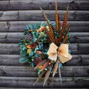 Cotswold Florist Christmas Door Wreath