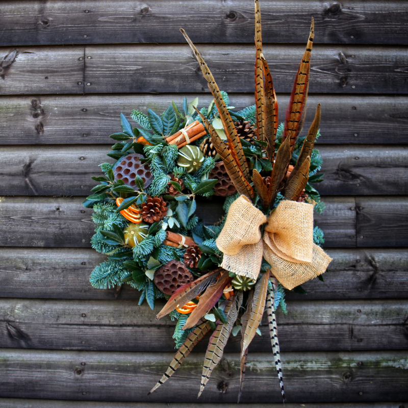 Cotswold Florist Christmas Door Wreath